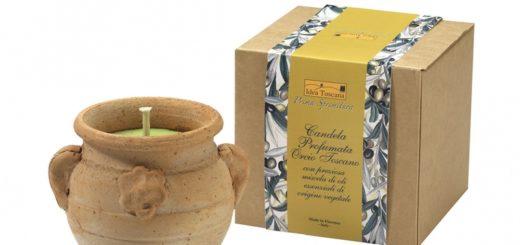 Świeca zapachowa Idea Toscana w glinianym dzbanku Orcio TOscano